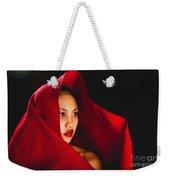Red Burlap Weekender Tote Bag