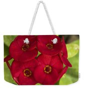 Red Burst Weekender Tote Bag