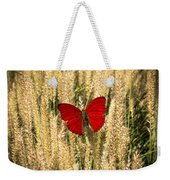Red Butterfly In The Tall Weeds Weekender Tote Bag