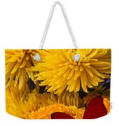 Red Butterfly On African Marigold Weekender Tote Bag