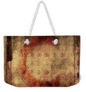 Red C Squares Weekender Tote Bag by Carol Leigh