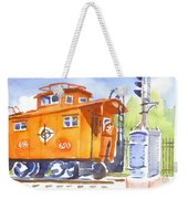 Red Caboose With Signal  Weekender Tote Bag