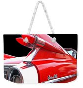 Red Cadillac Sedan De Ville 1959 Tail Fins Weekender Tote Bag