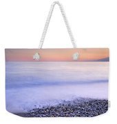 Red Calm At The Beach Weekender Tote Bag