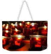 Red Candles Weekender Tote Bag