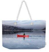 Red Canoe Weekender Tote Bag by Adrian Evans