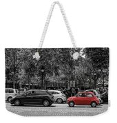 Red Car In Paris Weekender Tote Bag