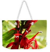 Red Cardinal Flower Weekender Tote Bag