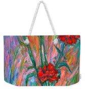 Red Carnation Melody Weekender Tote Bag