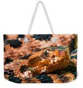 Red Carolina Pygmy Rattlesnake Weekender Tote Bag