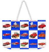 Red Cars Of America Weekender Tote Bag