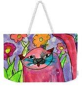 Red Cat Weekender Tote Bag