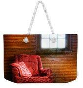 Red Chair In Panelled Room Weekender Tote Bag