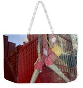 Red Cheque Reflections Weekender Tote Bag