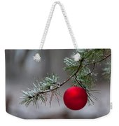 Red Christmas Ball Branch Weekender Tote Bag