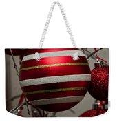 Red Christmas Balls Weekender Tote Bag