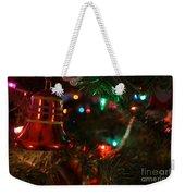 Red Christmas Bell Weekender Tote Bag