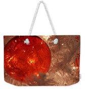 Red Christmas Ornament Weekender Tote Bag