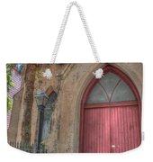 Red Church Door Weekender Tote Bag