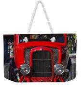Red Classic Hotrod Weekender Tote Bag