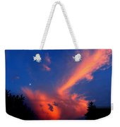Red Clouds In The Evening Weekender Tote Bag