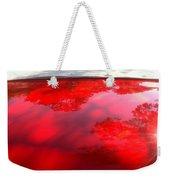 Red Convertible Weekender Tote Bag