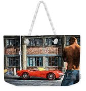 Red Corvette Weekender Tote Bag by Bob Orsillo