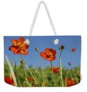 Red Cosmos Flower Weekender Tote Bag