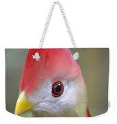 Red Crested Turaco Weekender Tote Bag
