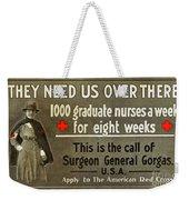 Red Cross Poster, C1914 Weekender Tote Bag