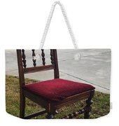 Red Cushion Chair Weekender Tote Bag