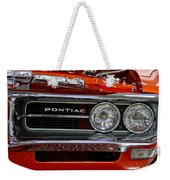 Red Customized Retro Pontiac-front Left Weekender Tote Bag