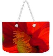 Red Dahlia Elegance Weekender Tote Bag