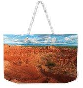 Red Desert Landscape Weekender Tote Bag