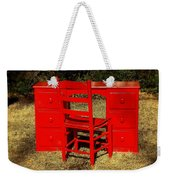 Red Desk And Chair Weekender Tote Bag