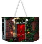 Red Door In Chicago Weekender Tote Bag