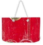 Red Door Lock Weekender Tote Bag by Tom Gowanlock