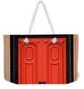 Red Door On New York City Brownstone Weekender Tote Bag