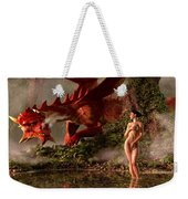 Red Dragon And Nude Bather Weekender Tote Bag