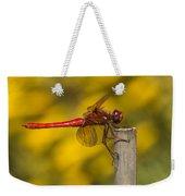 Red Dragonfly Waiting Weekender Tote Bag