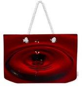 Red Drop Weekender Tote Bag