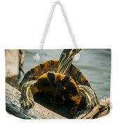 Red Eared Slider Turtle Weekender Tote Bag
