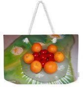 Red Eggs And Oranges Weekender Tote Bag