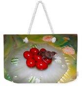 Red Eggs Bird And Flowers Weekender Tote Bag
