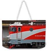 Red Electric Train Locomotive Bucharest Romania Weekender Tote Bag