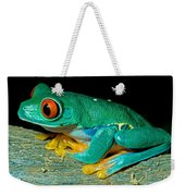 Red Eye Tree Frog Weekender Tote Bag