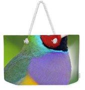 Red Faced Gouldian Finch Weekender Tote Bag