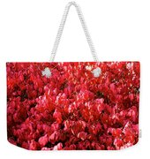 Red Fall Weekender Tote Bag