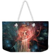 Red Fire Angels With Tower #1 Weekender Tote Bag