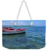 Red Fishing Boat Weekender Tote Bag
